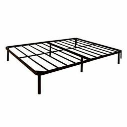 BOWERY HILL Metal Twin XL Bed Frame in Gunmetal