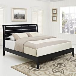 Modway - OLIVIA Queen Bed Frame in Black Color With Optional