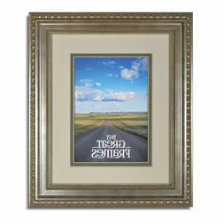 Ornate Heritage Silver Frames with Warm White/Bayberry Mats