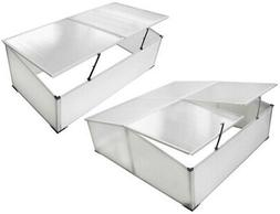 Outdoor Cold Frame Mini Greenhouse Aluminum Frame Garden See