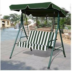 Patio Canopy Swing Hammock Cushioned Steel Frame Bench Outdo
