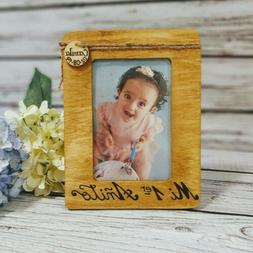 Personalized Wood BABY NAME Engraved 4x6 PICTURE Frame Showe