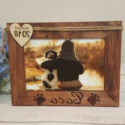 """Pet Memorial Picture Frame 4""""X 6"""" Photo Holder Tabletop Dog"""