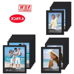 Photo Frame in Set Of 6 Format Lot Wall Art Home Decor Black