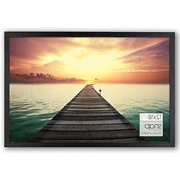 Photo Frame Poster Picture Black Wood Glass Cover Wall Decor