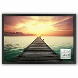 """Photo Frame Poster Picture 12 x 18"""" Black Wood Glass Cover W"""