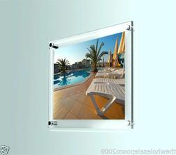 Photo Frame Wall Mount Clear Perspex Poster Picture Display
