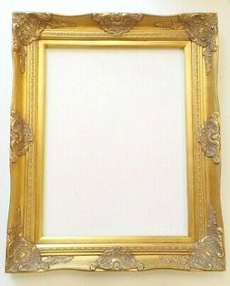 """Picture Frame- 24x36"""" Ornate- Baroque Gold Color- Wood/Gesso"""