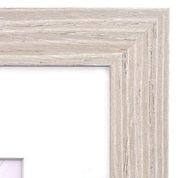 18x24 Picture Frame Barnwood Natural Oak - Matted for 12x18