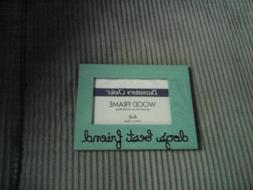 """Picture Frame, Green, Wood, 8""""x6"""" Rectanglar, 4 x 6 Pic  """"do"""