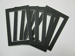 Picture Frame Mat 5x7 for 4x6  photo Black  Set of 12