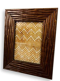 Sheffield Home Picture Frame Photo Brown Hard Scraped Textur