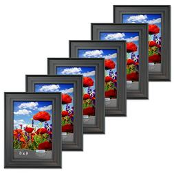 Icona Bay 4x6 Picture Frames  Bulk Set, Satin Black, Wall Mo