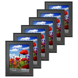 Icona Bay 5x7 Picture Frames  Bulk Set, Satin Black, Wall Mo