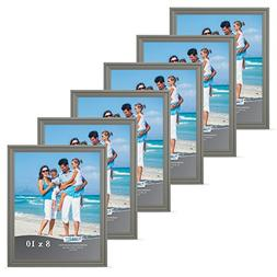 Icona Bay 8x10 Picture Frames  Gray Picture Frame Set, Wall