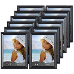 Icona Bay 5x7 Picture Frames , Black Picture Frame, Wall Mou