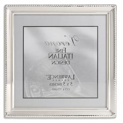 4 x 6 Picture Frame in Polished Silver Plate with Bead Borde