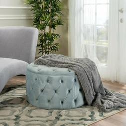 Puff Ottoman Round Tufted Cocktail Automan Furniture Coffee