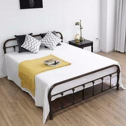 Giantex Queen Size Metal Steel Bed Frame with Stable Metal S
