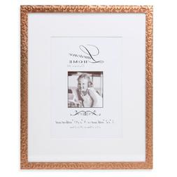 Lawrence Frames Rose Shimmer Metal, Holds 5 by 7-Inch Pictur