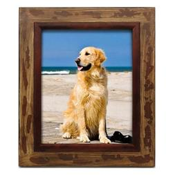 8x10 inch Rustic Barn Wood Picture Frame Tabletop Wall Hangi