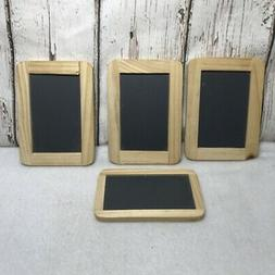 Set 4 small chalk boards wood frame Craft supplies