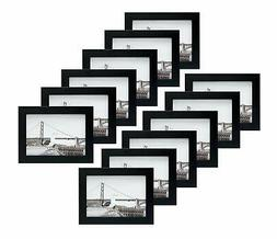 Frametory, Set of 12, 5x7 Black Frame, Table/Desk Top, Wall