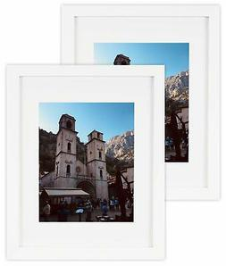 Golden State Art Set of 2 White Photo Wood Frame 11x14 with