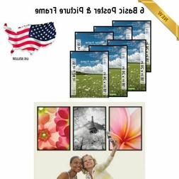 Set Of 6 Mainstays 18x24 Basic Poster and Picture Frame Blac