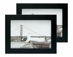 Frametory, Set of Two 5x7 Black Picture Frame - Made to Disp