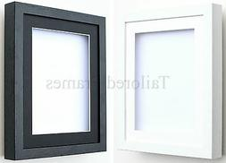 Shadow box frames 3D Deep in white and black with Mounts for