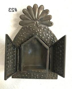 Small Mexican Tin Nicho Shadow Box - Vintage Style Frame- Fo
