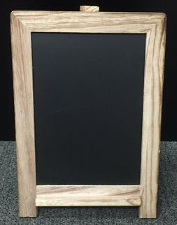 Small Tabletop Chalkboard Sign With Wood Frame And Magnetic