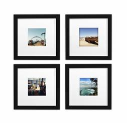 Smartphone Frames Collection,Set of 4, 8x8-inch Square Wood