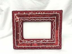 Soft Sequin Red Picture Frame - 3.5 x 5.5 photo - Home Decor