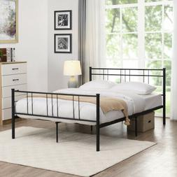Twin Size Full Size Metal Bed Frame with Headboard Footboard