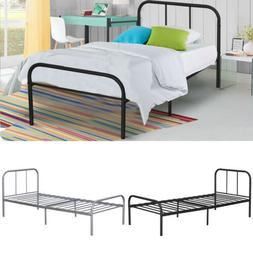 Twin Size Metal Platform Bed Frame Mattress Foundation Steel
