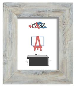"""US Art Frames 2.75"""" Distressed Textured White Solid Barn woo"""