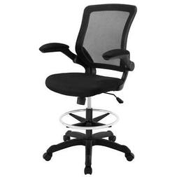 MODWAY Veer Drafting Stool Frame Fitted Mesh Back Seat Swive