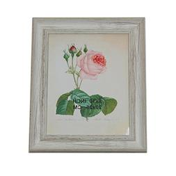 """12.75"""" Vintage Inspired Distressed White Photo Picture Frame"""