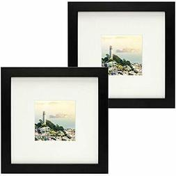 - Frametory, Set Of Wall & Tabletop Frames 2 Black Square In