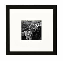Wall Photo Frame Collection, 8x8 Black Photo Frame with Ivor