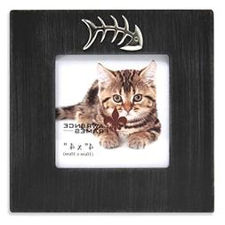 Lawrence Frames Wash Cat Frame with Fish Bone Ornament, 4 by