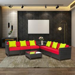 Wicker Aluminum Frame Furniture Outdoor Rattan Sectional Sof
