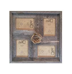 "4x6 -2"" wide Multi-Direction Rustic Barn Wood Collage Frame"
