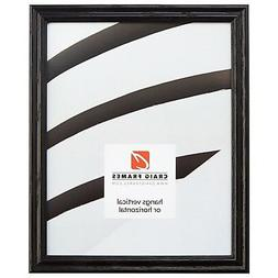 "Craig Frames .75"" Traditional Gloss Black Wood Picture Frame"