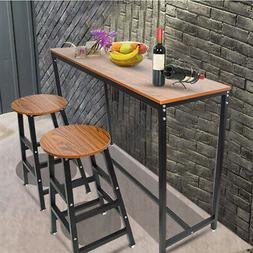 Wood Dining Table Pub Bars Table Home Kitchen Breakfast Furn
