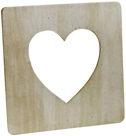 wood heart picture frame ready