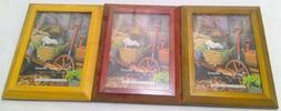 Wood picture frame lot 3 brown red new home decoration 5x7 t