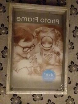 """Wood Wooden Finish Photo Frame Small Shadow Box 4 x 6 4"""" x 6"""